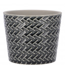Ceramic bucket Brook D11cm, H9cm, for TO9,5, anthr